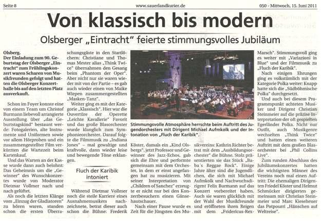 Sauerlandkurier vom  15.06.2011