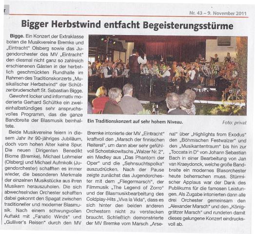 Briloner Anzeiger 09.11.2011